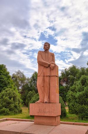 The monument to Maxim Gorky. Bishkek, Kyrgyzstan Editorial