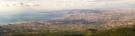 Panorama of Naples. View from Mount Vesuvius. Italy