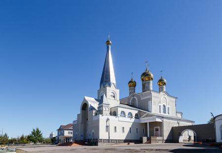 Vvedensky Cathedral parish of the Diocese of Astana and Almaty. Karaganda, Kazakhstan Standard-Bild