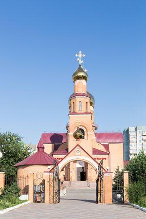テルミタウ、カザフスタン - 2016 年 8 月 13 日: 聖ニコラス大聖堂