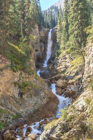 Waterfall Tears Leopard (Barsa), Barskoon gorge,  Issyk Kul region, Kyrgyzstan