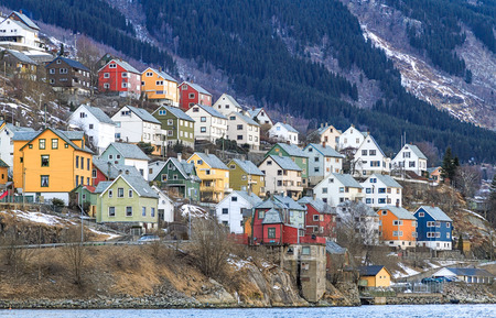 フィヨルドの家。ノルウェーのオッダ