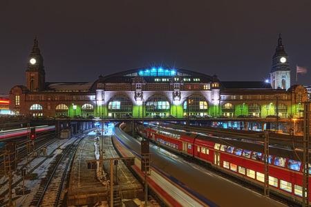 The railway station in Hamburg, Germany