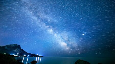 海の星トラックは。時間の経過 写真素材