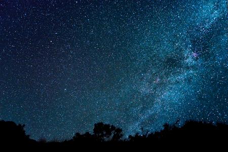 空に天の川 写真素材