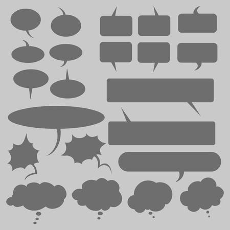 replica: Vector Set of Flat Comics Bubbles. Talk and Think Bubles. Illustration