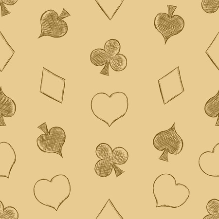 trump: Vector Seamless Playing Cards Suits Pattern Background Illustration