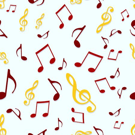 tonality: vector seamless pattern background of music symbols