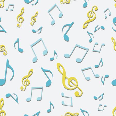 tonality: vector seamless pattern background of music symbols