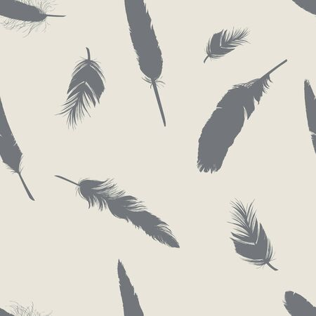plumage: Vector Abstract Seamless Pattern Background of Plumage