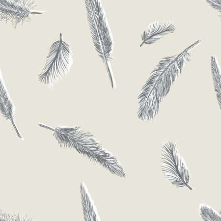 artificial wing: Vector Abstract Seamless Pattern Background of Plumage