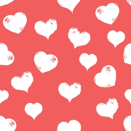 Vector nahtlose Muster Hintergrund der Liebe Herzen.