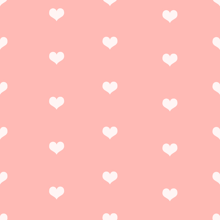 i nobody: Vector Seamless Pattern Background of Love Hearts. Illustration