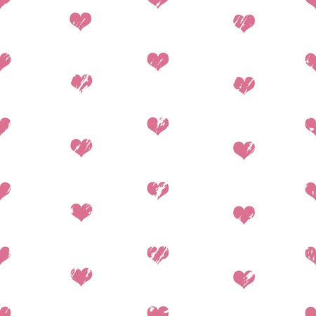 Vector Seamless Pattern Background of Love Hearts. Illustration