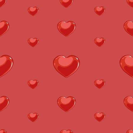 illustrate i: Vector Seamless Pattern Background of Love Hearts. Illustration
