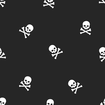 glum: vector seamless pattern with skulls and bones