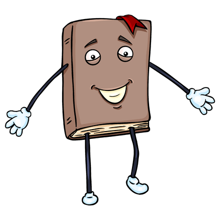 lively: Vector Single Cartoon Character - Lively Brown Book