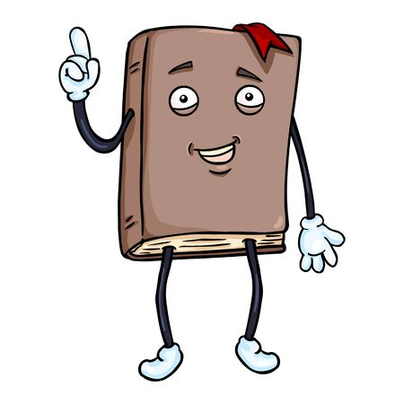 personification: Vector Single Cartoon Character - Lively Brown Book