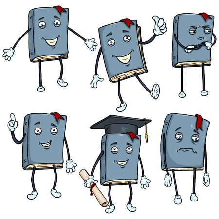 Vector Set of Cartoon Characters -  Lively Books.