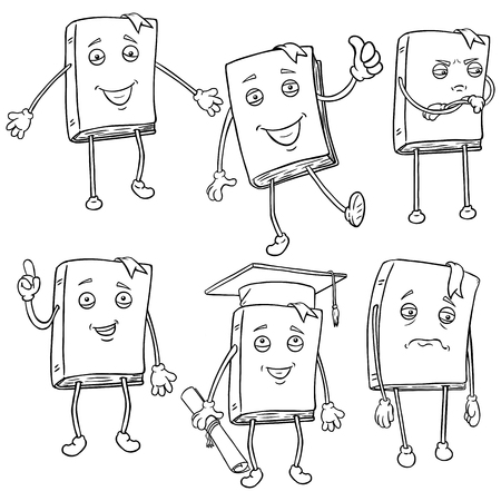 lively: Vector Set of Line Characters - Lively Books.