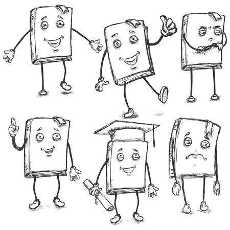 lively: Vector Set of Sketch Characters - Lively Books.