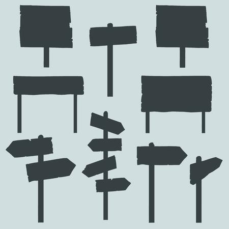 letreros: Vector Conjunto de Señales y Letreros Siluetas