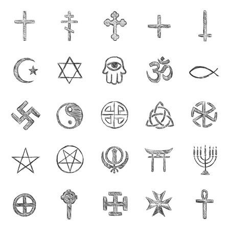 triskel: vector set of sketch religious symbols