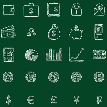 notecase: Vector Finance Icons Illustration