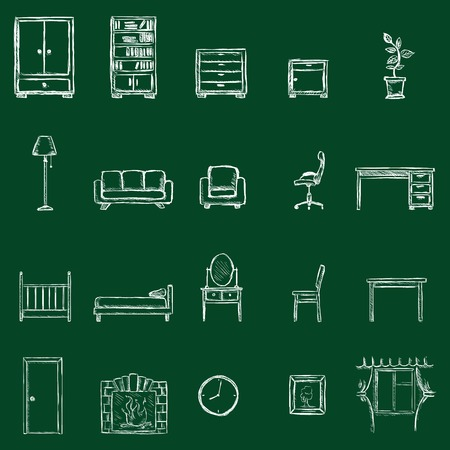 piece of furniture: Vector Furniture Icons