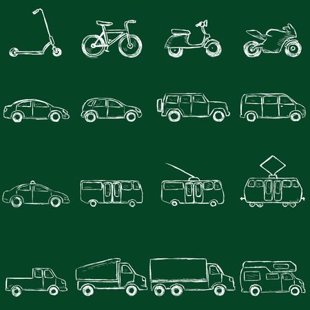 trackless: Vector Transportation Icons