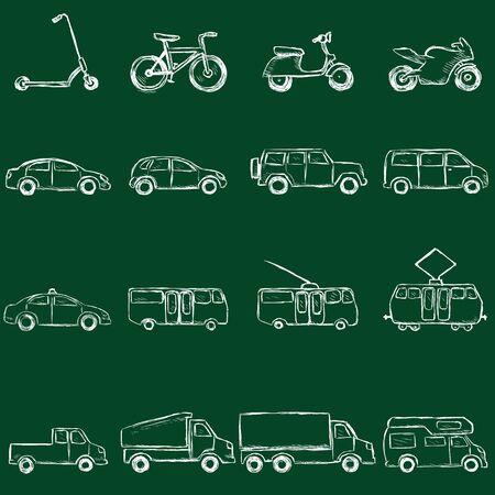 omnibus: Vector Transportation Icons