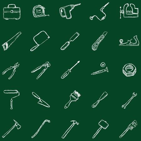 platen: Vector Work Tools Icons Illustration