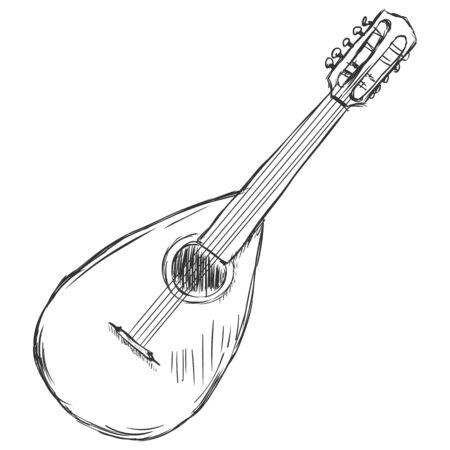 mandolin: Vector Sketch Mandolin