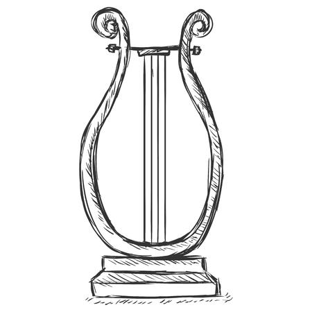 symphonic: Vector Sketch Lira Illustration