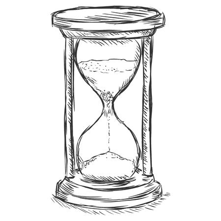 sketch: vector sketch illustration - sandglass