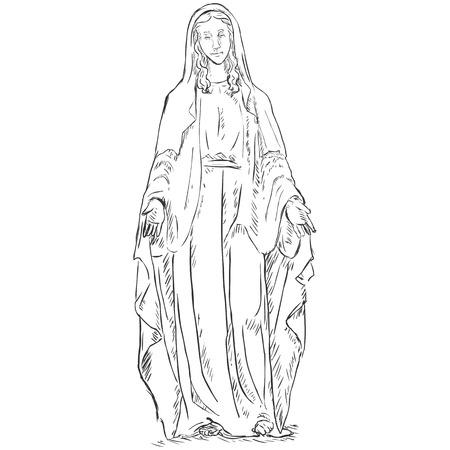 Vector  Sketch Ave Maria