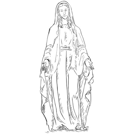 Vector  Sketch Ave Maria