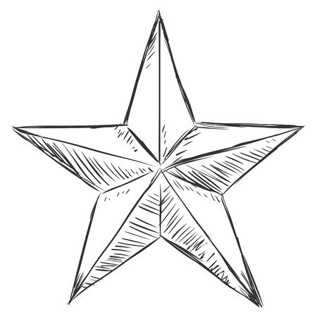 military draft: Vector Sketch Star