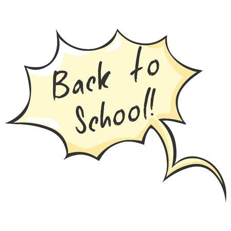 replica: Vector Single Cartoon Bubble - Back to School. Illustration