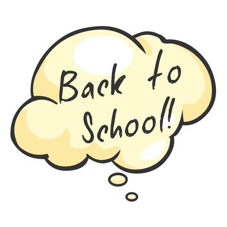 Vector Single Cartoon Bubble - Back to School. Illustration