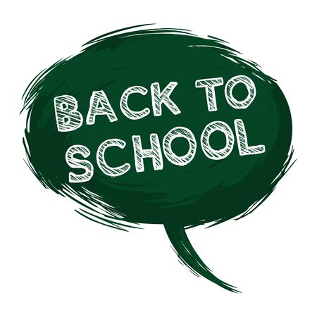 grundge: Vector Single Grunge Green Bubble - Back to School.