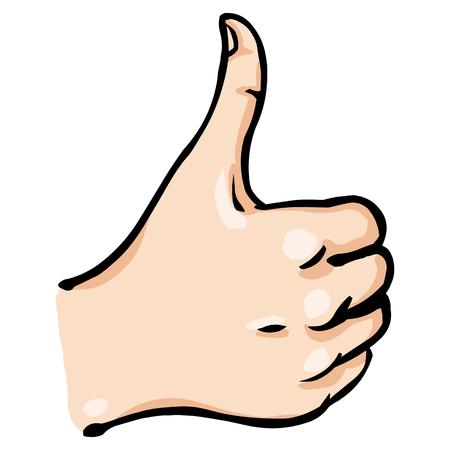 praise: Vector Cartoon Thumbs Up