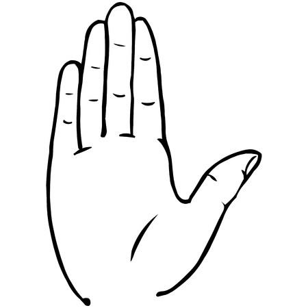 hi five: Vector Line Art Palm