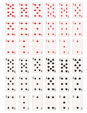 blackjack: Vector Set of Numbers and Figures Playing Cards