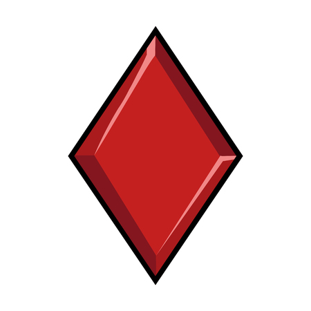 blackjack: Vector Single Sign of Playing Cards Suit - Diamond Illustration