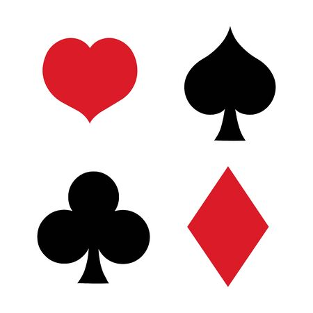blackjack: Vector Flat Set of Playing Cards Suits