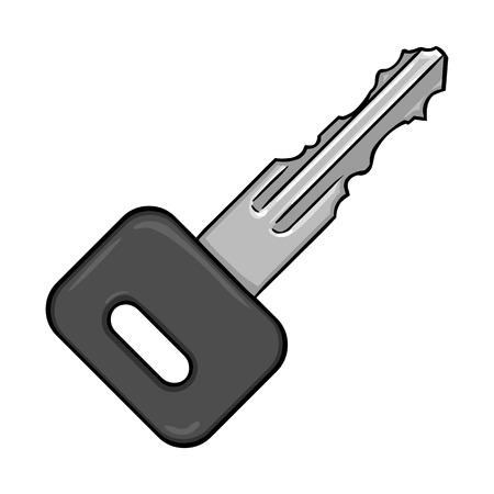 homeowner: Vector Single Cartoon Modern Key on White Background Illustration