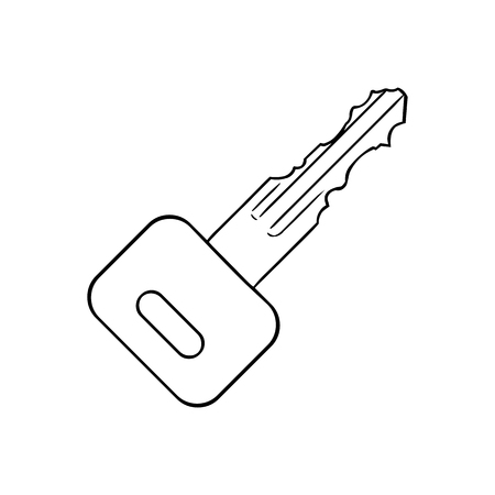 lineart: Vector Single Lineart Modern Key on White
