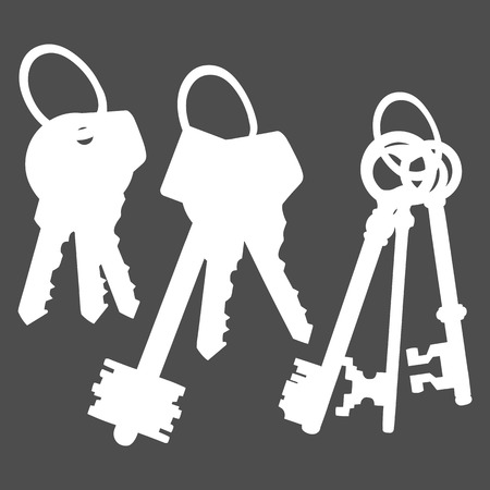 bunches: Vector Set of Silhouette Keys Bunches