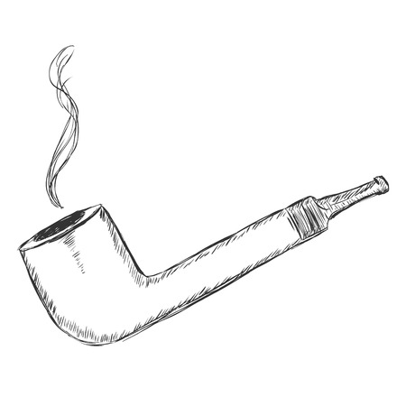 manners: Vector Single Sketch Tobacco Pipe - Lovat.